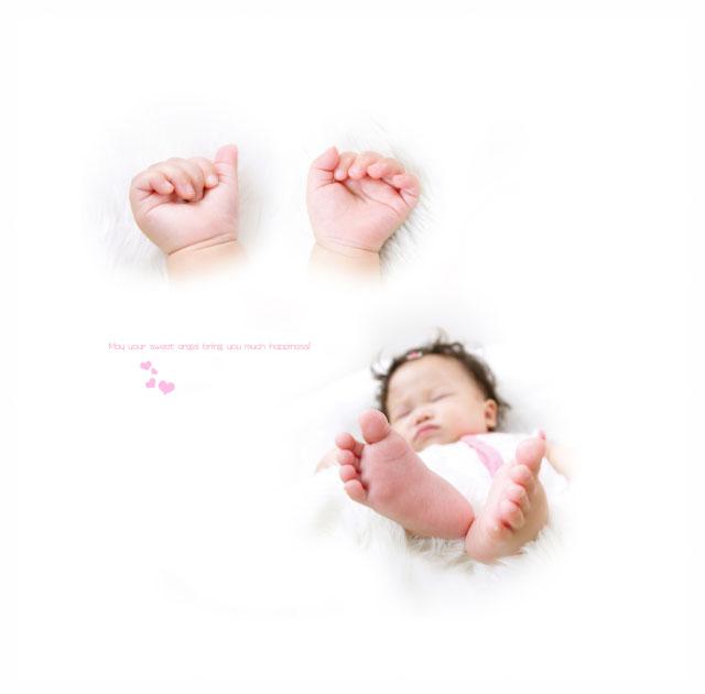 赤ちゃんの1/2ハーフバースデー